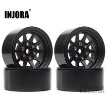 INJORA 107g/pcs Metal Alloy 1.9 Beadlock Wheel Rims for 1:10 RC Crawler Axial SCX10 AXI03007 90046 Traxxas TRX4 Redcat GEN8
