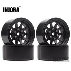 Injora 107 г/шт. металлический сплав 1,9 обод для колеса Beadlock для 1:10 RC комплект автомобильных принадлежностей для передней и задней оси SCX10 90046 Traxxas ...