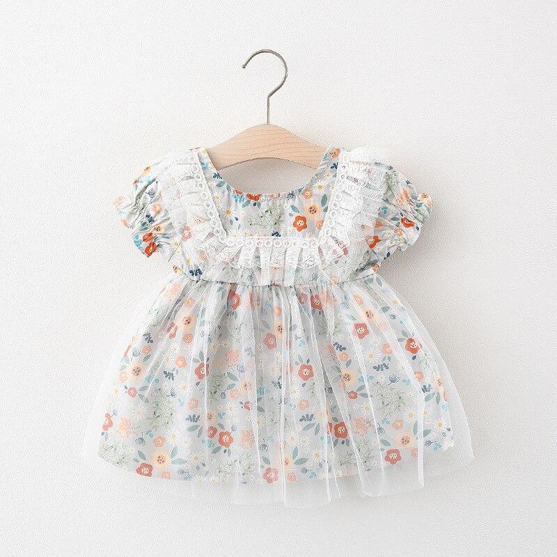 Bebê recém-nascido meninas roupas de verão vestido de renda floral traje para meninas roupas de bebê 1 ano de aniversário princesa vestidos de festa vestido