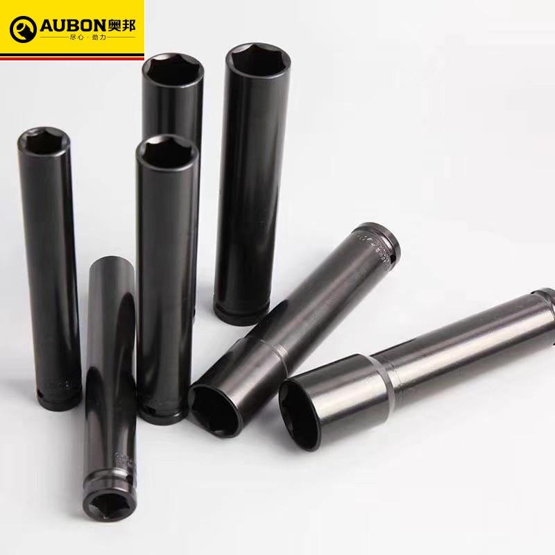 Aubon Métrica 21mm 22mm 24mm Preto Soquete Pneumático Extra-profundo 15cm 20cm Comprimento 17mm 18mm 19mm