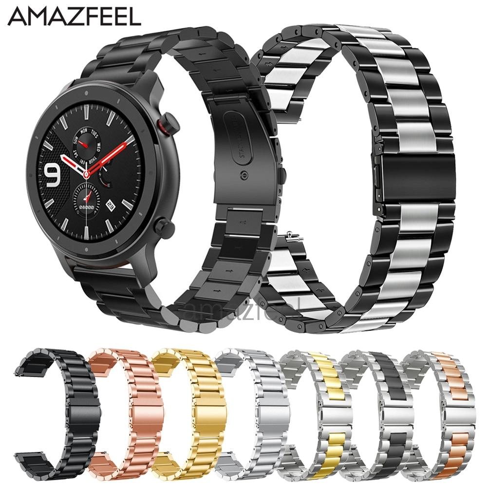 Metal Strap For Amazfit Gtr 47mm Bracelet Stainless Steel Strap For Huami Amazfit Bip Gtr 42mm Watch Band Wrist Strap Wristband