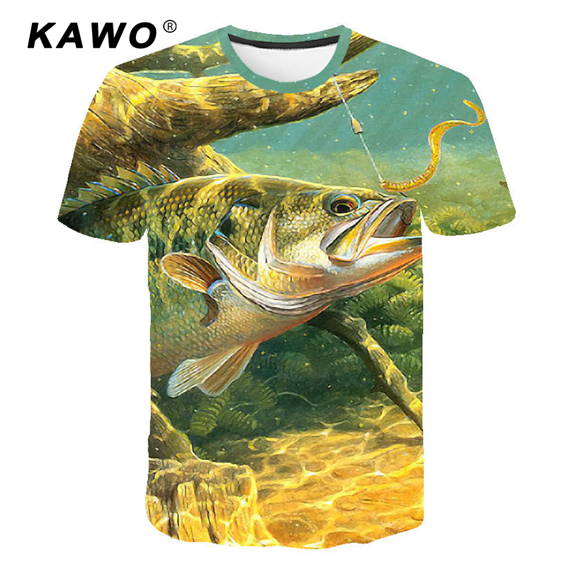 Summer Men Fishing Clothing Short Sleeve Fishing Round Shirt Coat Outdoor Running Riding T-shirt 3D Breathable Fishing Clothes