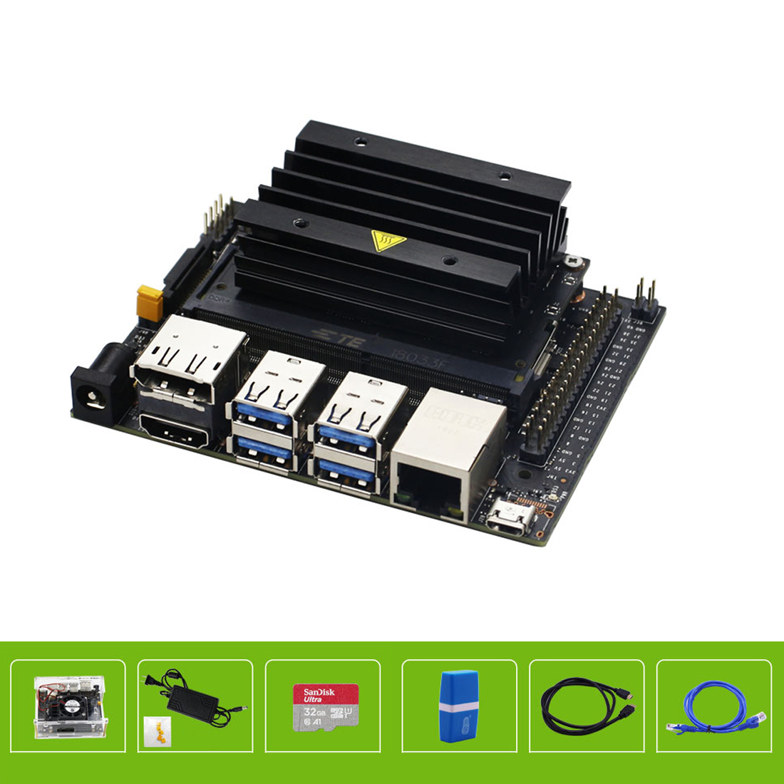 32GB SD Card Jetson NANO Programmable Robot Set Development Board Programming Kit