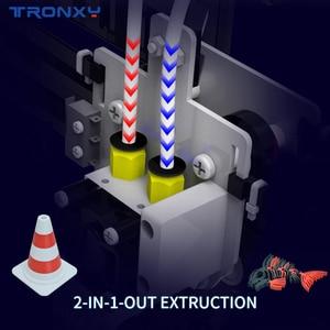 Image 4 - Yeni Tronxy X5ST 500 2E/X5SA 400 2E/X5SA 2E büyük 3D yazıcı 2 In 1 Out çift renk ekstruder Cyclops tek kafa