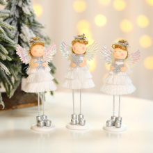 Christmas Decorations Blonde Angel Doll Decoration Creative Holiday Party Little Girl Doll Home Room Decoration Surprise Gift(China)