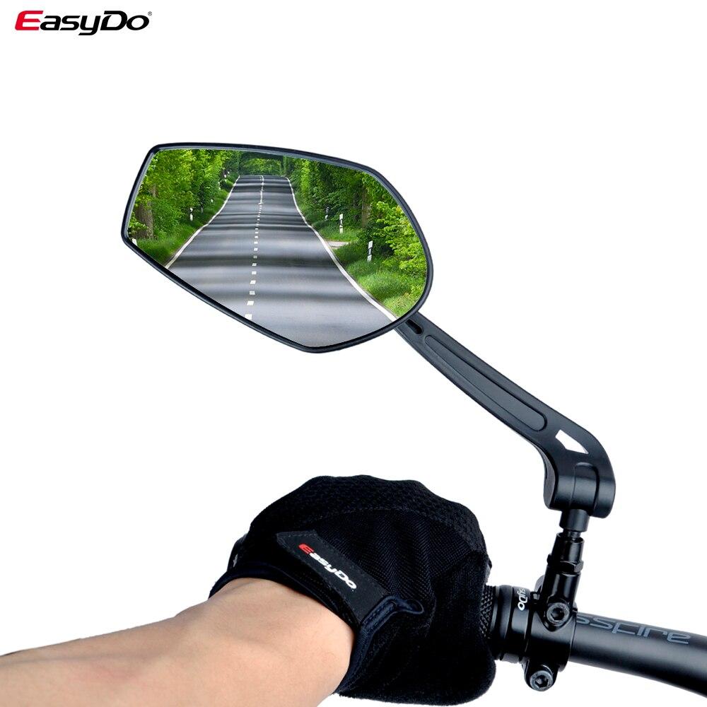 EasyDo دراجة المقود عاكس مرآة الرؤية الخلفية دراجة هوائية جبلية عجلة كهربائية HD واسعة النطاق قابل للتعديل زوايا مرآة الساخن