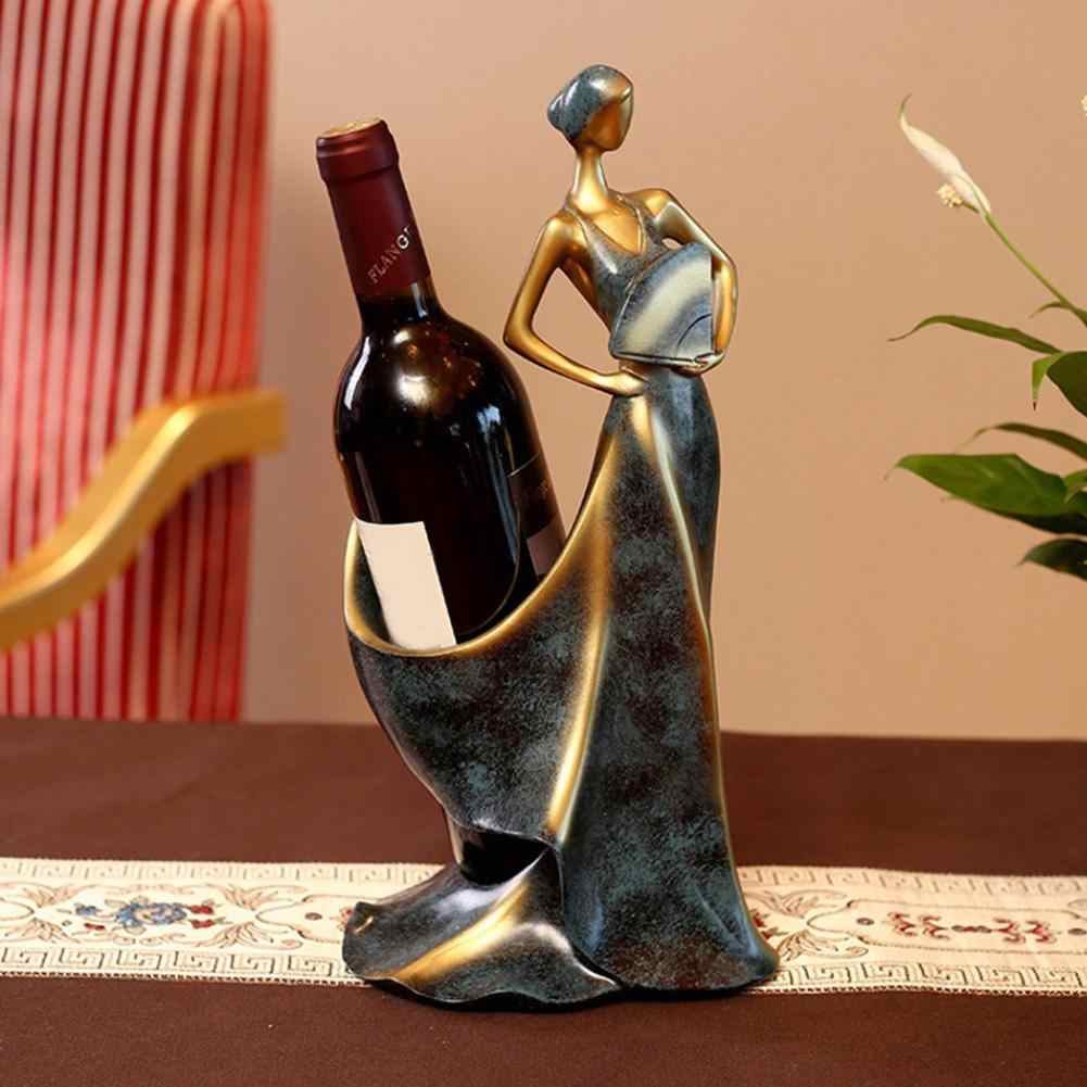 Beauty Girl Model Wine Rack Whisky Holder Shelf Wine Bottle Rack Practical Sculpture Wine Stand Home Decoration Accessories