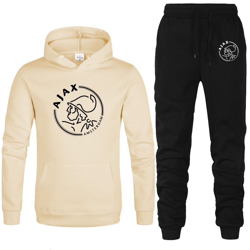 New 2020 Brand Tracksuit Fashion Hoodies Men Sportswear Two Piece Sets Hip Hop Fleece Thick Hoodie+Pants Sporting Suit Male