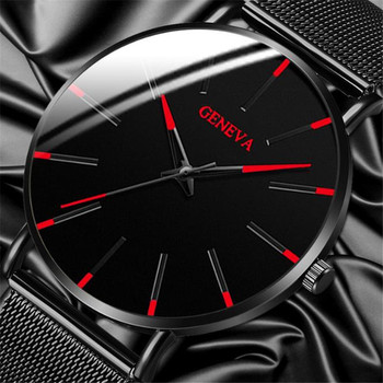 Luxury Fashion Mens Minimalist Watches Ultra Thin black Stainless Steel Mesh Band Watch Men Business Casual Analog Quartz clock dom men watches top brand luxury quartz watch casual quartz watch black leather mesh strap ultra thin fashion clock male relojes
