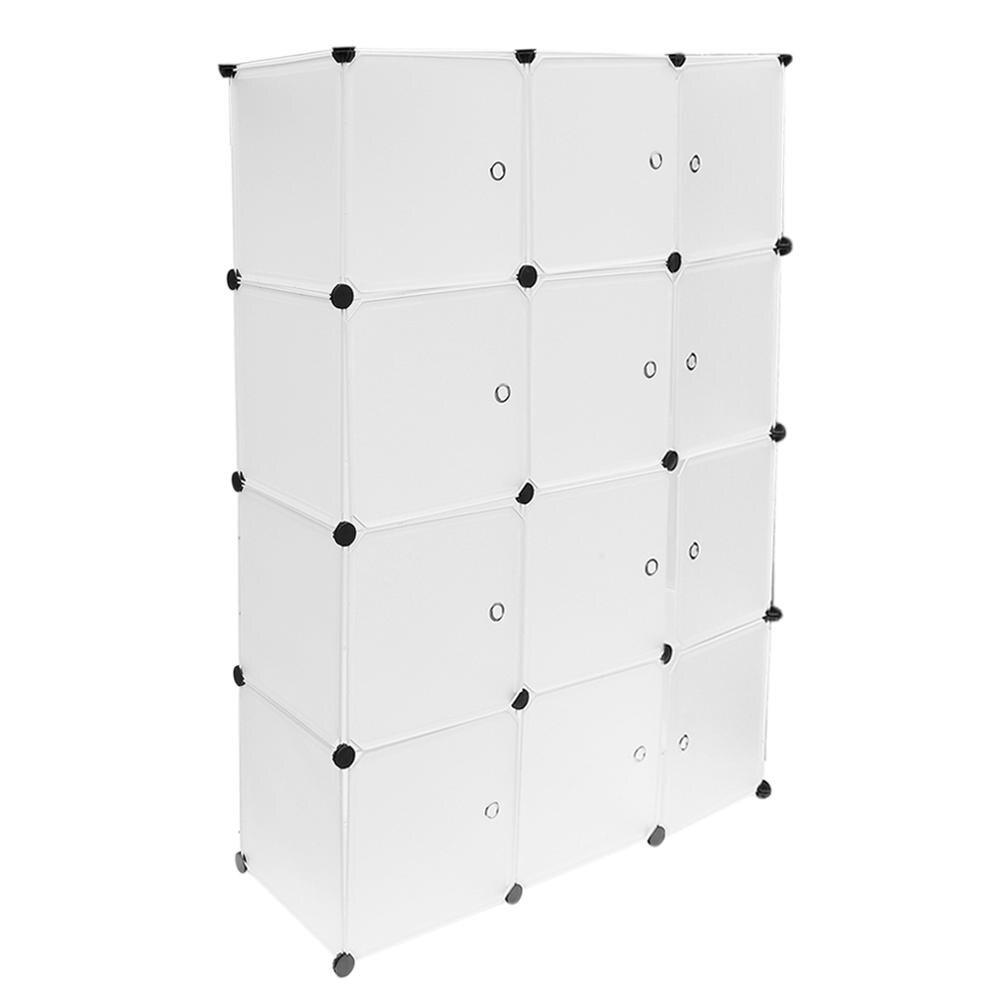 12 Grids Simple Resin Storage Box Cabinet DIY Extra Large Eco-Friendly Wardrobe Closet Organizer Clothes Holder