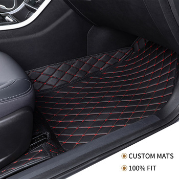Flash mat leather car floor mat For Skoda all models octavia fabia rapid superb kodiaq yeti car foot styling car accessories image