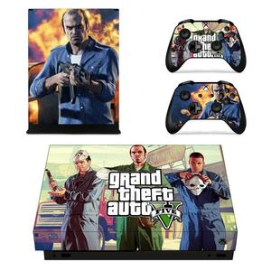 Image 2 - Grand Theft Auto V GTA 5 Game Cover Skin Console & Controller Decal Stickers for Xbox One X Skin Stickers Vinyl
