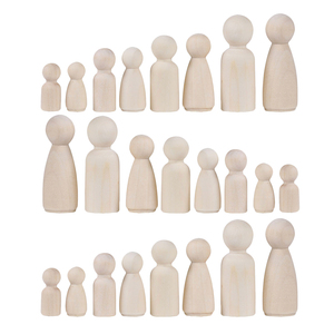 Image 5 - 36Pcs Houten Peg Mensen Ongeverfd Hout Poppen Set Poppen Kids Diy Speelgoed Arts Ambachten Decor, 35 Mm, 43 Mm, 55 Mm, 65 Mm, 2 Vormen Gemengde