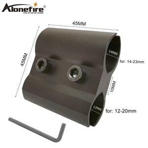 Alonefire qq06 universal 12-23mm ajustável airsoft rifle tiro arma tubo barril suporte adaptador luzes laser âmbito de visão montagens