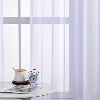 ELKA Solid White Tulle Sheer Window Curtains for Living Room the Bedroom Modern Tulle Voile Organza Curtains Fabric Drapes tulle modern window curtains for living room solid sheer curtains for bedroom voile drapes curtains window screening treatments
