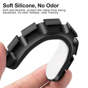 Image 3 - Kabel silikonowy Organizer elastyczny kabel Winder Management zaciski kablowe uchwyt USB uchwyt na kabel klawiatura z myszką słuchawki samochodowe