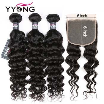 Winter Design Yyong 6x6 Closure With Bundles Malaysian Milan Wave 3 Or 4 Bundles With Closure Remy Human Hair With Lace Closure
