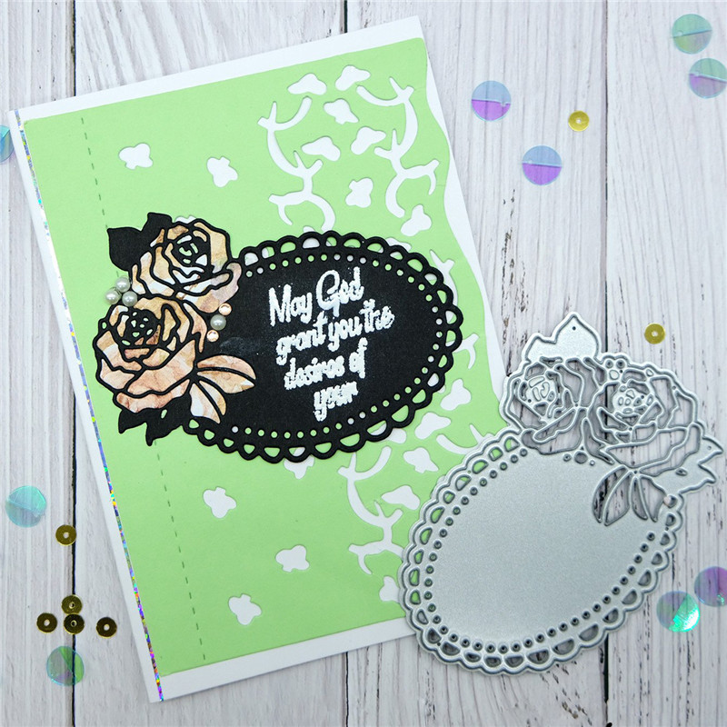 Kokorosa Flower Lace Metal Cutting Dies For Craft Scrapbooking Embossing Stencil DIY Die Cut Card Decoration 2019 New