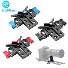 Liga de alumínio 15mm lente telefoto suporte da câmera suporte adaptador extention tubo clipe slr dslr rig haste clmap sistema