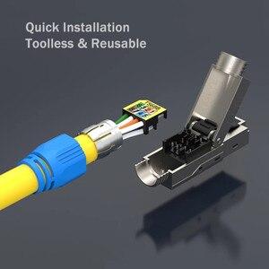 Image 3 - חתול 8 רשת מחבר Toolless Keystone ג ק מודול מלא מסוכך RJ45 שקע מסוף עד PoE + 100W 40G 2000MHz LAN חוט