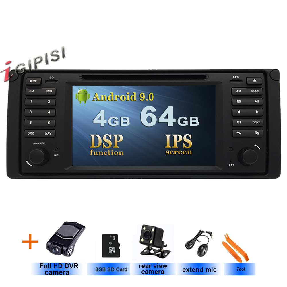 DSP lettore DVD DELL'AUTOMOBILE Per BMW E39, Android 9.0 GPS di Navigazione Stereo IPS screen CAR Multimedia player, in Dash Car Radio Unità di Testa