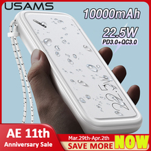 Phone External-Battery-Power-Bank USAMS 10000mah-Powerbank Type-C Fast-Charging PD3.0