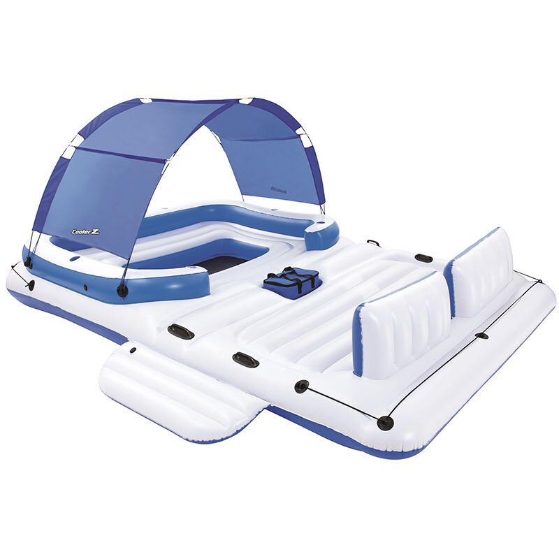 PVC 6-8 Person Fishing, Swimming, Water Sport Inflatable Boat/ Resting Island 2