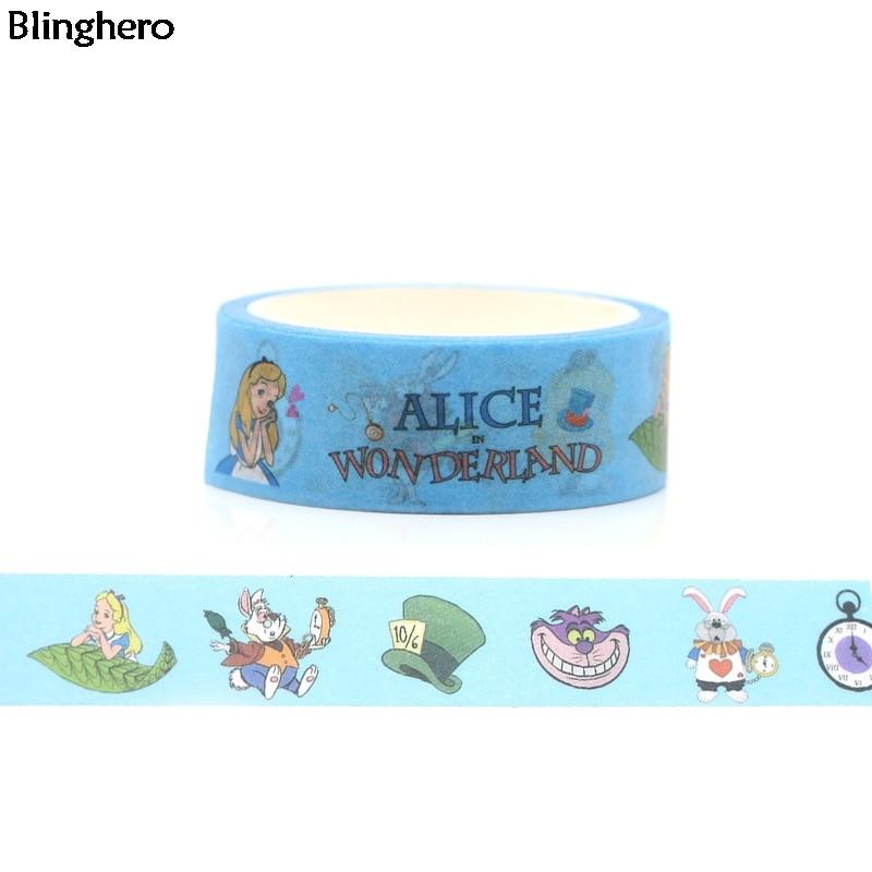 Blinghero Caroon Fantasy World 15mmX5m Washi Tape Cute Adhesive Tape Masking Tape Decorative Print Scrapbooking Sticker BH0028
