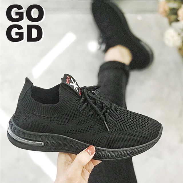 [GOGD]2020 Fashion women Spring-Summer sneaker comfortable soft shoes lady sport light running casual shoes