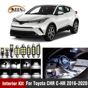 10Pcs White Canbus Led Car Interior Lights Kit for Toyota CHR C-HR 2016 2017 2018 2019 2020 led Interior Reading Dome Lamp