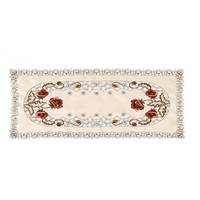 Durable Accessories Tablecloth Home 40*85cm Floral Vintage Embroidered Lace Mat Decoration Protective|Mats & Pads|   -