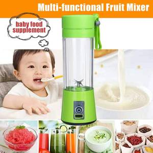 380ml 4/6 Blades Portable Electric Fruit Juicer Home USB Rechargeable Smoothie Maker Blenders Machine Sports Bottle Juicing Cup