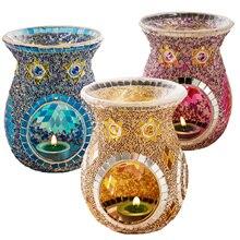 Candle Furnace Aromatherapy Lamp Essential Oil  Household Incense Burner Vintage Light Holder Home Table Decor