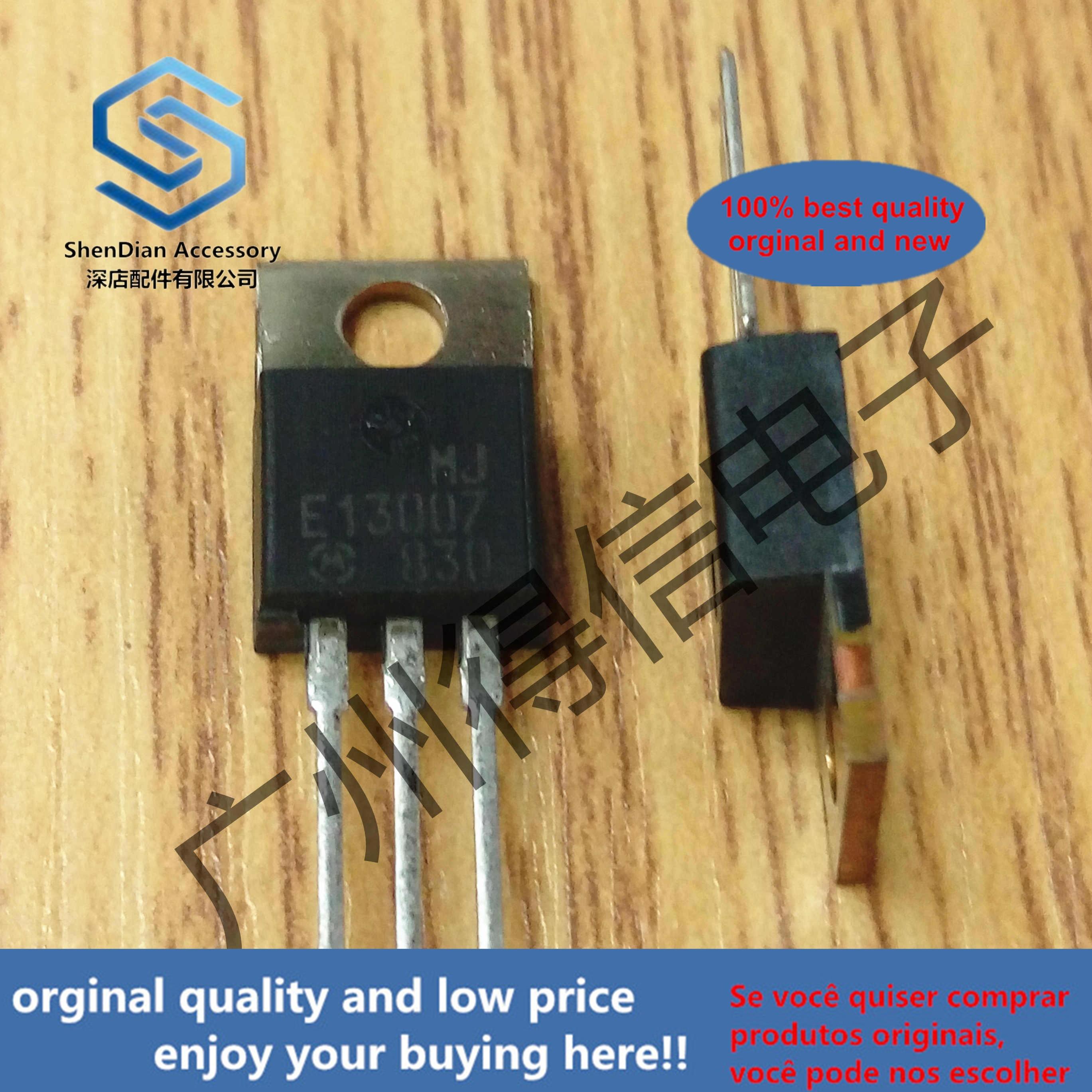 10pcs 100% Orginal New MJE13007 13007 TO-220  POWER TRANSISTOR 8.0 AMPERES 400 VOLTS 80/40 WATTS Real Photo
