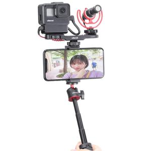 Image 5 - Ulanzi MT 08 שולחני הארכת חצובה נייד וידאו ערכת w מיקרופון אור ידית Rig Selfie מקל עבור Smartphone DSLR מצלמה Vlogging