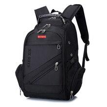 """Marka İsviçre Laptop 15 """"sırt çantası harici İsviçre bilgisayar sırt çantaları Anti theft sırt çantası su geçirmez çanta erkekler kadınlar için sırt çantası"""