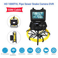 Eyoyo 9 Inch LCD Monitor 1000TVL 50M 23mm Pipe Inspection Video Camera,Drain Sewer Pipeline Industrial Endoscope Inspector