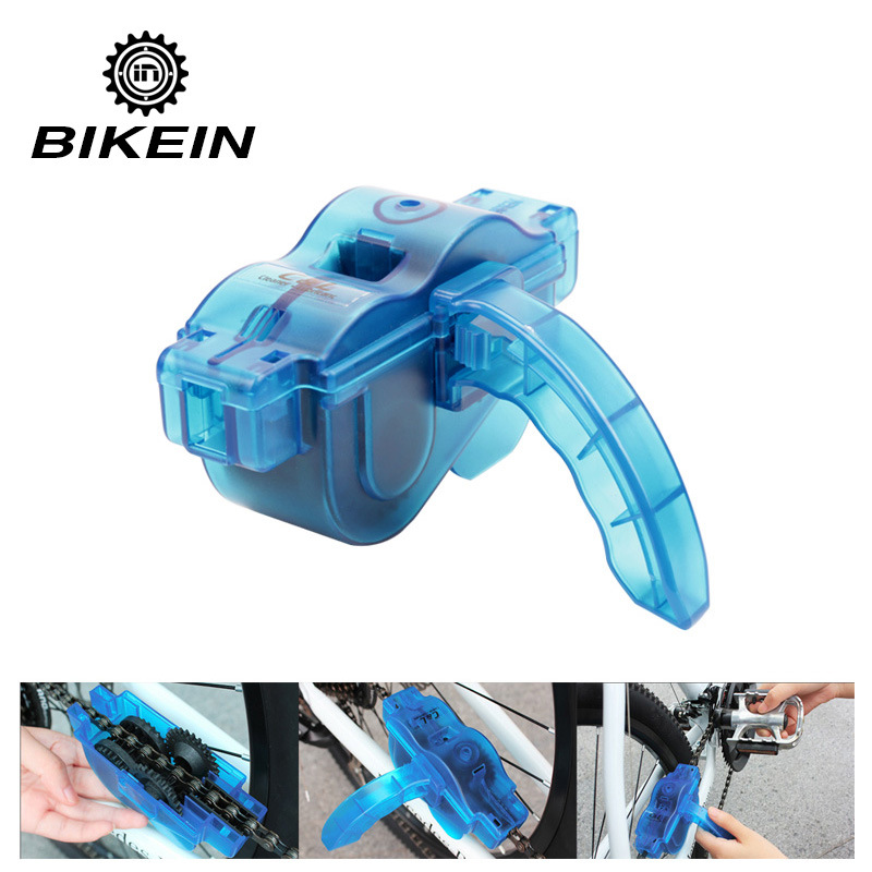 BIKEIN Portable Bicycle Chain Cleaner Bike Clean Machine Brushes Scrubber Wash Tool Mountain Cycling Cleaning Kit Outdoor Sports