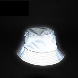 Homem mulher unisex reflexivo chapéu brilho no escuro hip hop ao ar livre verão praia sporting sol balde chapéu bob chapeau caps pesca