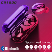 CBAOOO TWS Bluetooth 5.0 Headphones Wireless IPX5 In-Ear Sports Stereo Bass Mini