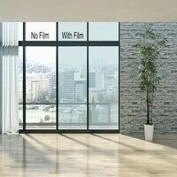 SUNICE 80%VLT light Blue Building Glass Window Film Heat Rejection Solar Tint Adhesive Glass Heat Control Anti scratch1*10m
