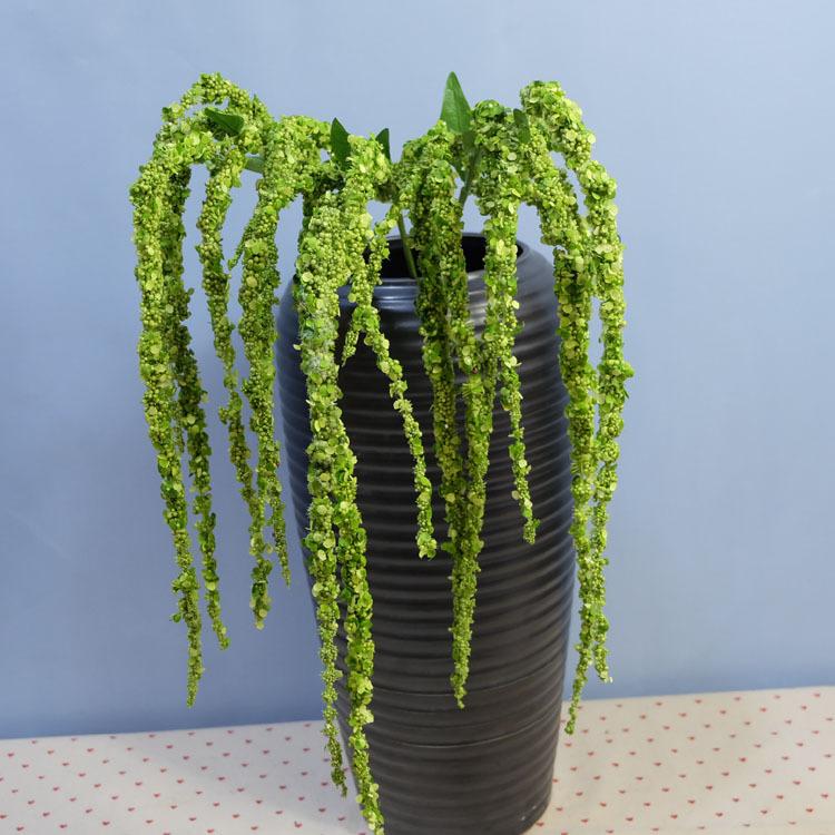 Flone 8 Branch Artificial Lover Fruit Green Amaranthus Artificial Flower Green Plant Wedding Home DIY Decoration Foam Flowers (4)