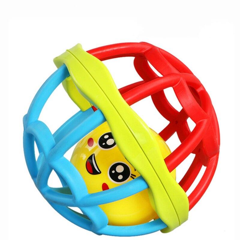 Coloré éducatif en caoutchouc souple main saisir balle bébé berceau mobile cloche jouets 0-12 mois nouveau-né WJ601