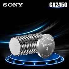 10 шт. 100% оригинальный Sony CR2450 CR 2450 3V литиевые батареи DL2450 BR2450 LM2450 для часов Автомобильный ключ пульт дистанционного управления