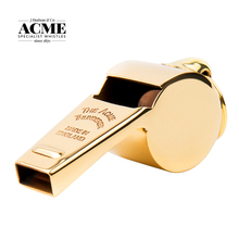 ACME 58.5 Referee Coach Whistle Brass Material Golden Color High Grade Hand Polished Rugby Sports Competition Whistle