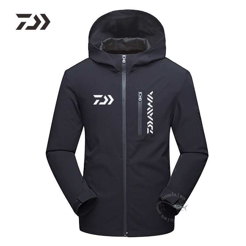 Fishing Jacket Winter Men Warm Fishing Clothing Multi-pocket Zipper Hooded Fishing Shirt Winter Clothes For Fishing Outdoor