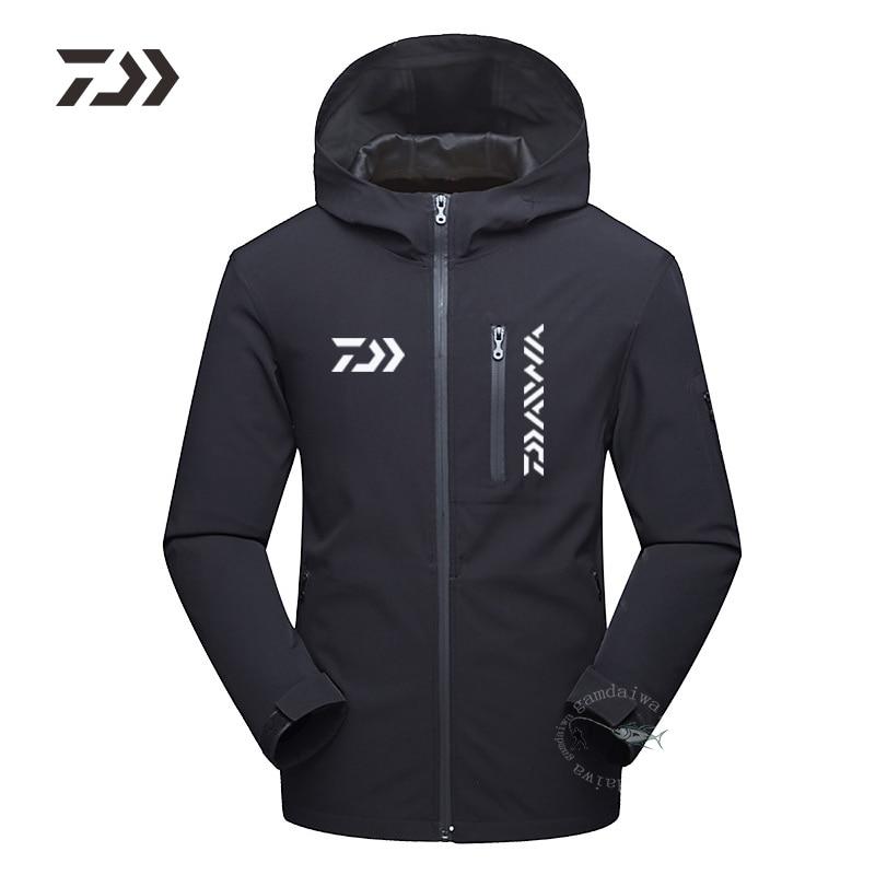 Fishing Jacket Winter Men Warm Fishing Clothing Multi-pocket Zipper Hooded Fishing Shirt Winter Clothes For Fishing Outdoor