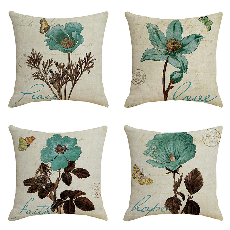 Plant Flower Bird Butterfly Paris Music Linen Pillowcase Home Pillow Linen Cartoon Pillow Cover Cushion Cover Pillow Cover Cushion Cover Aliexpress