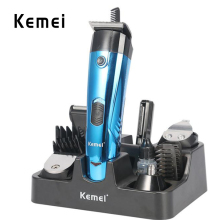 Kemei-891  Multifunctional 6-In-1 Electric Nose Hair Trimmer Rechargeable Shaver Clipper Shaving Scraping Shaping Device