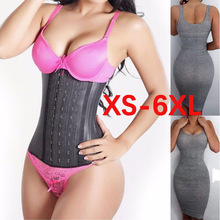 Women Shapewear Corset Weight Loss Body Shaper Latex Waist Trainer Cincher Trimmer Hourglass Belt Long Torso Fajas 9 Steel Bone